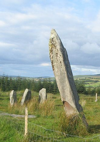 Knocknakilla - View of the Standing Stone at the main Complex