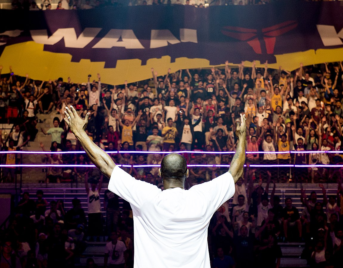 Kobe Bryant attends a promotional event in taiwan