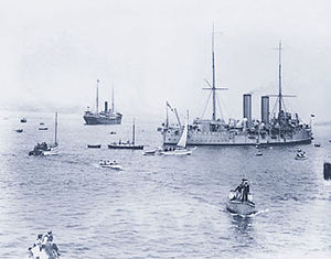 Sikhism in Canada - Komagata Maru (furthest ship on the left)