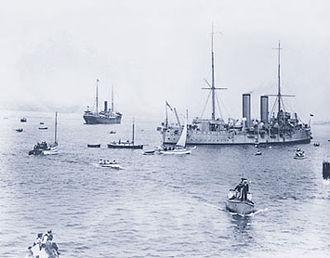 Sikhism in Canada - Komagata Maru (furthest ship on the left)