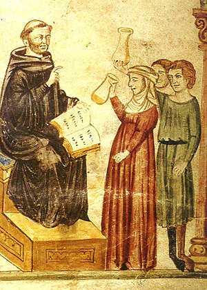 Constantine the African - Constantine examines patients' urine