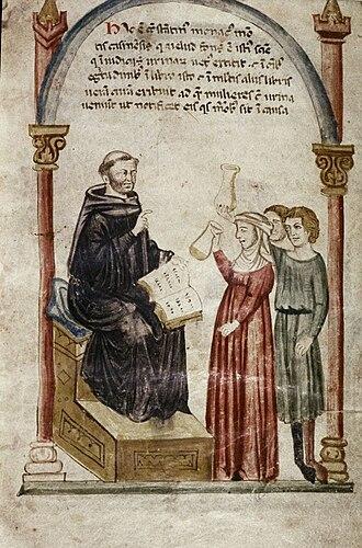 Constantine the African - Constantine examines patients' urine