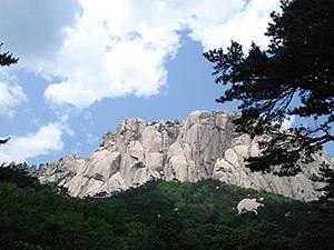 The scenery of Dobongsan (Mt.Dobong), Seoul, S...