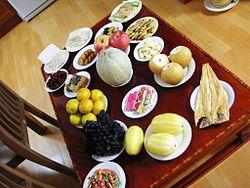 Makanan pada perayaan Chuseok