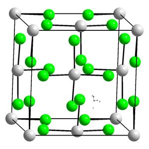 Uranium tetrachloride - Image: Kristallstruktur Uran(IV) chlorid