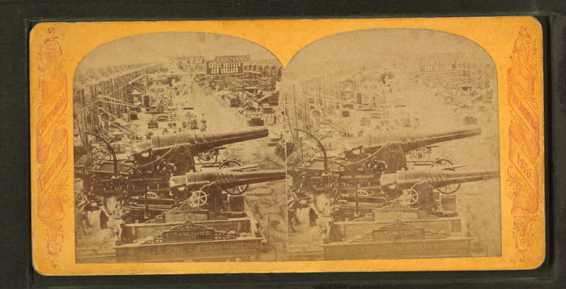 File:Krupp cannon, Machinery Hall, from Robert N. Dennis collection of stereoscopic views.png
