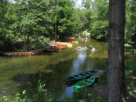 Kayaking on the Krutynia river Krutynia splyw.jpg