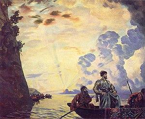 Stepan Razin - Stepan Razin on the Volga (by Boris Kustodiev, (1918) State Russian Museum in St Petersburg.)