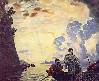 Stepan Razin - Stepan Razin on the Volga (by Boris Kustodiev, (1918) State Russian Museum in St Petersburg.)