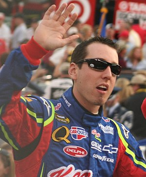 NASCAR driver Kyle Busch in August 2007 at Bri...