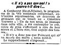 L'Humanité - 19 juillet 1922 - Page 2 - 3ème colonne - Concours de grimaces à Combourg.jpg