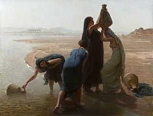 Femmes fellahs au bord du Nil