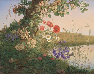 Christine Løvmand - Christine Løvmand: Blomsterstykke (1841)