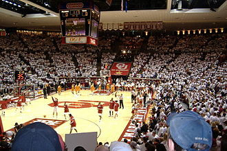 Lloyd Noble Center - Image: LNC Inside
