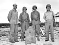 LTC Alan Shapley, BG Lemuel C. Shepherd, COL Merlin F. Schneider and LTG Holland M. Smith on Guam, 1944.jpg
