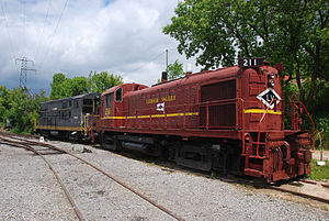 Rochester & Genesee Valley Railroad Museum - LV 211 and USA 1843 parked in Industry Yard.
