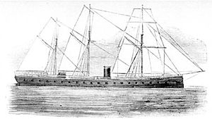 CSS Alabama -  The ironclad frigate French battleship ''La Gloire'' was in the English Channel, near Cherbourg, during the battle between Alabama and Kearsarge