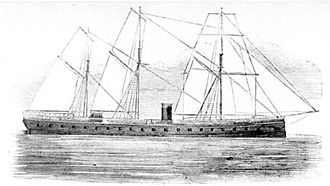 CSS Alabama - The ironclad frigate French battleship La Gloire was in the English Channel, near Cherbourg, during the battle between Alabama and Kearsarge
