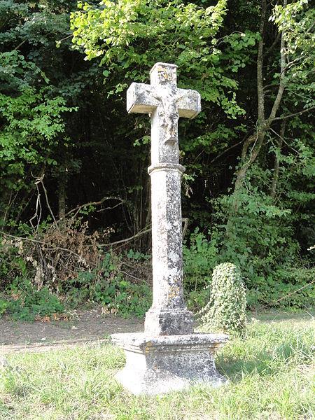 Laneuveville-derrière-Foug (Meurthe-et-M.) croix de chemin B, recto