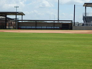 Lamar Softball Complex - Image: Lady Cardinals dugout