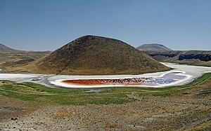 Lake Meke - Lake Meke with volcanic cone inside