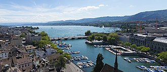 Lake Zurich - Lake Zürich from Grossmünster