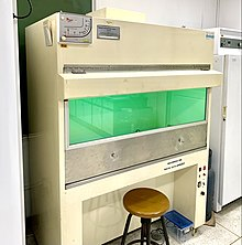 Laminar flow cabinet Microbiology Department.jpg
