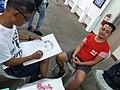 Lan Borlagdatan sketches Irvin Sto. Tomas at Pagkarahay Arts Festival 2018.jpg