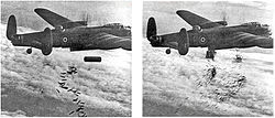 Lancaster I NG128 Dropping Load - Duisburg - Oct 14 - 1944 new.jpg