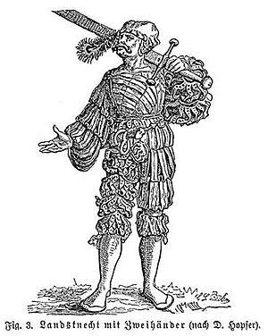 Landsknecht - Landsknecht with a Zweihänder