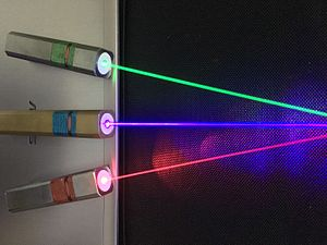 Spectral color - Red, green and blue Laser beams