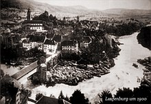 Photographed from a public photo, Laufenburg around 1900