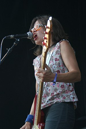 Laura Ballance - Laura Ballance performing with Superchunk at Pitchfork Music Festival in 2011.