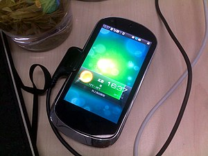 Lenovo smartphones - An early model LePhone charging