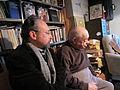 Left to right poets Mikhail L Gershteyn & Naum Korzhavin, Boston 2012, CC- BY 3.0 Mariya Gershteyn.JPG