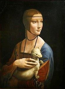 Leonardo da Vinci, Dama con l'ermellino (1488-1490), Museo Czartoryski, Cracovia