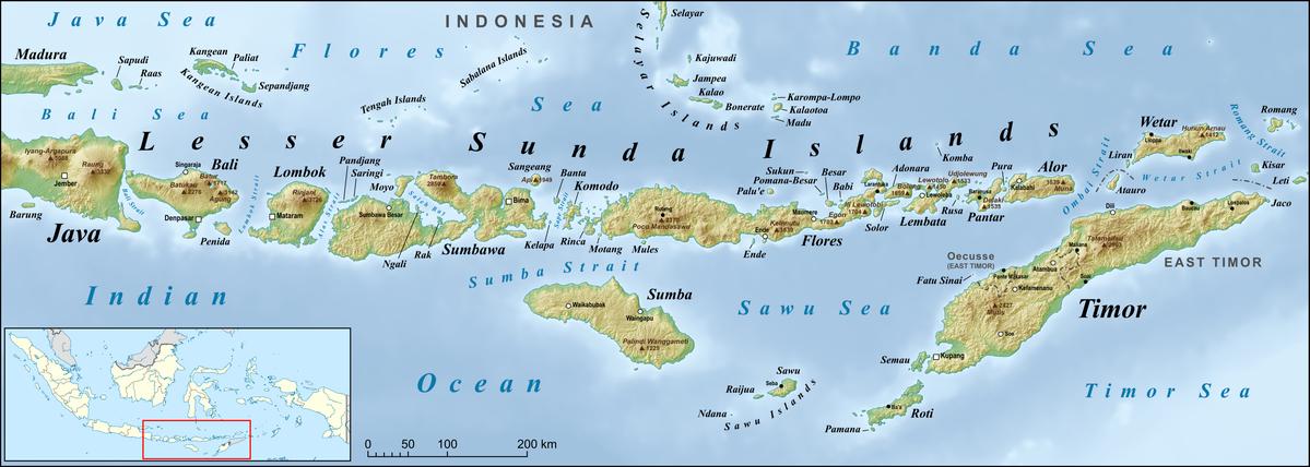 Lesser Sunda Islands Map