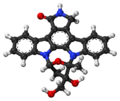 Lestaurtinib ball-and-stick model.png