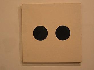 Alexander Liberman - Liberman's Two Circles (1950) in the Metropolitan Museum of Art