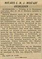 Limburger Koerier vol 096 no 133 Notaris C.M.J. Mostart overleden.jpg