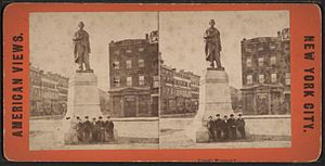 Abraham Lincoln (Brown) - Image: Lincoln Monument, from Robert N. Dennis collection of stereoscopic views
