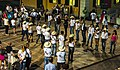 Line dancing troupe at Esino Lario, Wikimania 2016, evening of Day 1.jpg