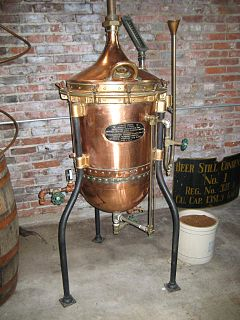 Liquor alcoholic beverage that is produced by distilling
