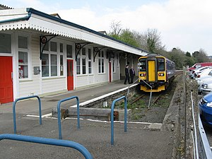 Liskeard railway station - The Looe Branch platform
