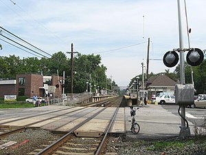Crossing the LIRR tracks in Little Neck