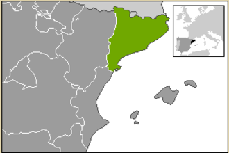Catalan wine - Catalonia in the north-east of Spain