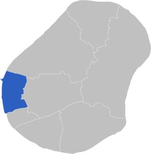 Constituencies of Nauru - Image: Locatie Constituency Aiwo