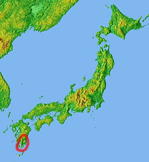 Ōsumi Peninsula - Position of Osumi Peninsula
