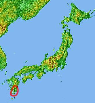 Ōsumi Peninsula - Position of Ōsumi Peninsula