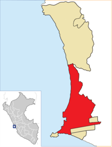 Location of Callao in the Constitutional Province of Callao